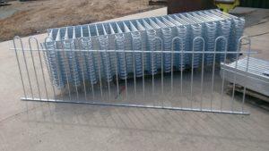 Galvanised bow top railings
