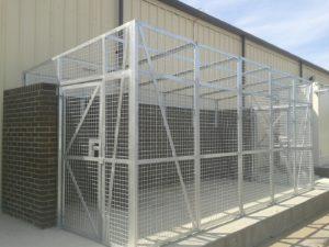 Galvanised weld mesh cage